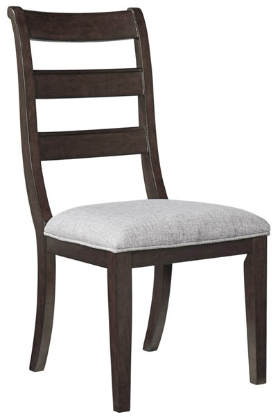 2 Ashley Furniture Adinton Reddish Brown Dining Upholstered Side Chairs D677-01
