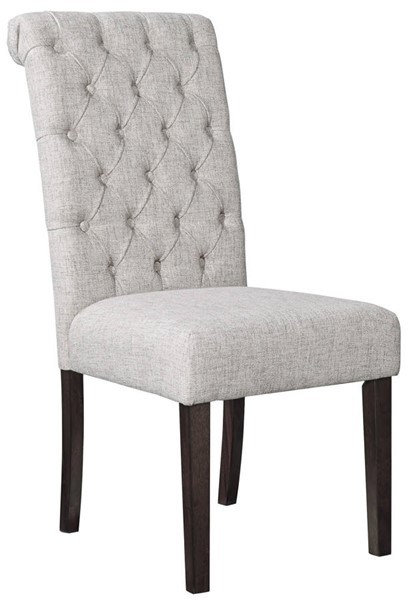 2 Ashley Furniture Adinton Reddish Brown Tufted Dining Side Chairs D677-02