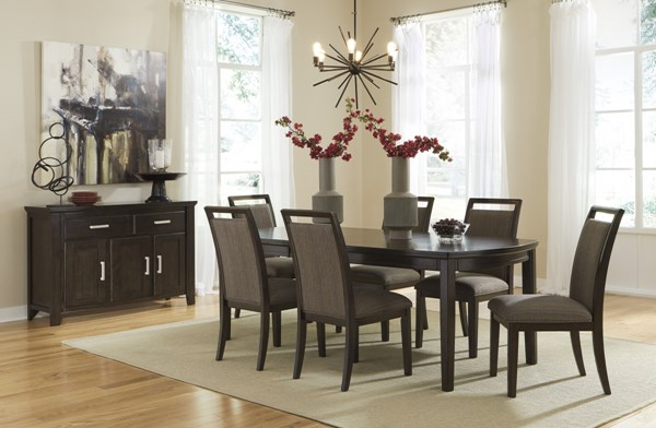 Lanquist Contemporary Dark Brown Wood Dining Room Sets D681-DR-S