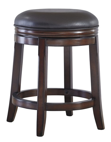2 Ashley Furniture Porter Brown Upholstered Swivel Stools D697-324