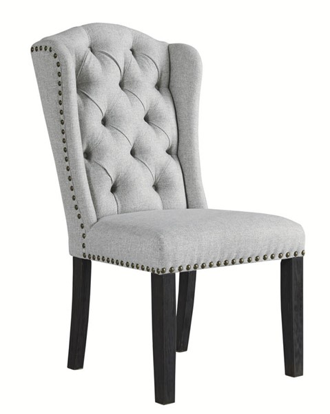 2 Ashley Furniture Jeanette Linen Upholstered Dining Side Chairs D702-01