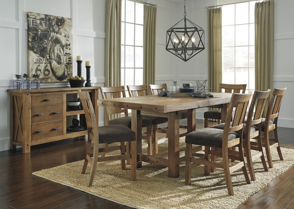 Tamilo Casual Gray Brown Fabric Solid Wood Counter Height / Bar Set D714-BAR
