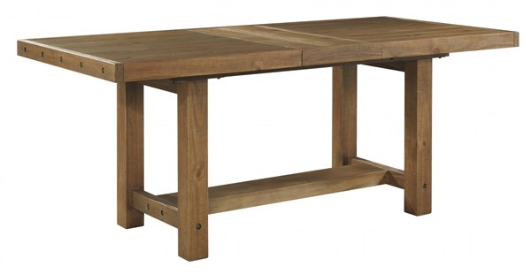 Tamilo Gray Brown Wood Rectangle Dining Room Counter Extension Table D714-32