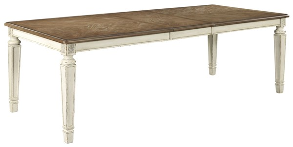 Ashley Furniture Realyn Chipped White Rectangle Dining Table D743-45