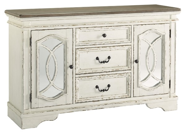 Ashley Furniture Realyn Chipped White Dining Room Server D743-60