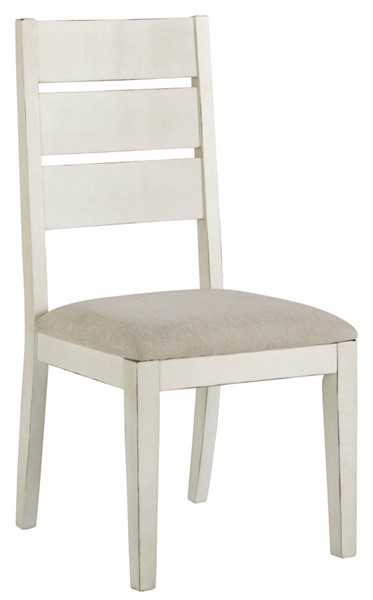 2 Ashley Furniture Grindleburg Antique White Dining Side Chairs D754-01