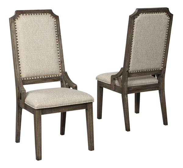 2 Ashley Furniture Wyndahl Brown Side Chairs D813-02