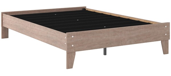 Ashley Furniture Flannia Gray Full Platform Bed EB2520-112
