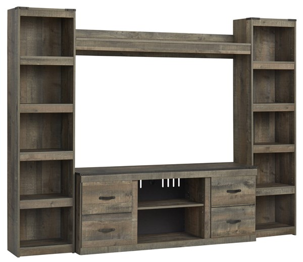 Ashley Furniture Trinell Brown Wood Entertainment Centers EW0446-ENT-S-VAR