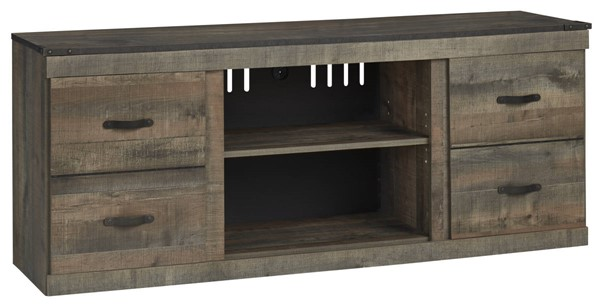 Ashley Furniture Trinell Brown LG TV Stand With Fireplace Option EW0446-168