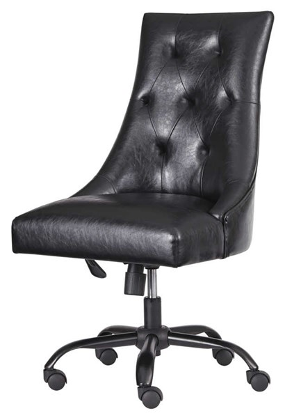 Ashley Furniture Brown Tufted Back Home Office Swivel Desk Chair H200-03