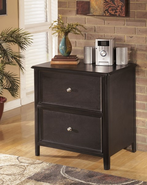 Carlyle Almost Black Wood Lateral File Cabinet H371-42