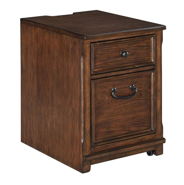 Woodboro Traditional Brown Solid Wood File Cabinet