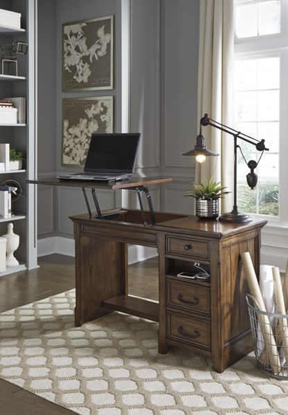 Woodboro Traditional Classics Brown Wood Home Office Lift Top Desk H478-29