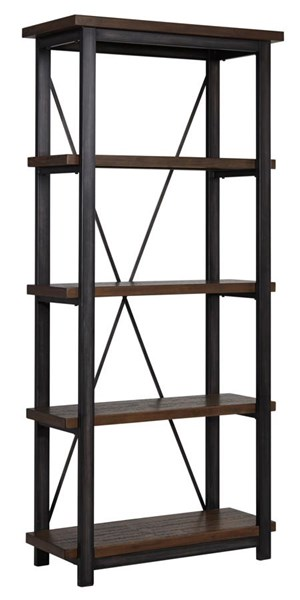 Gavelston Vintage Casual Black Large Bookcase H532-17