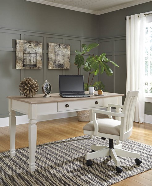 Sarvanny White Wood Fabric Office Furniture Sets H583-HOF-S2