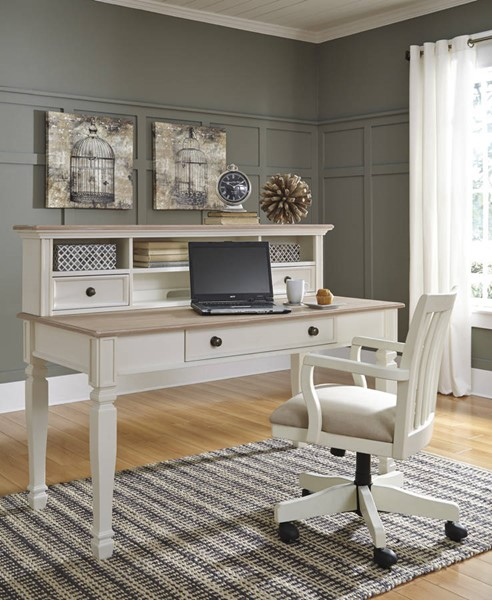 Sarvanny Casual White Wood Fabric Office Furniture Sets H583-HOF-S3
