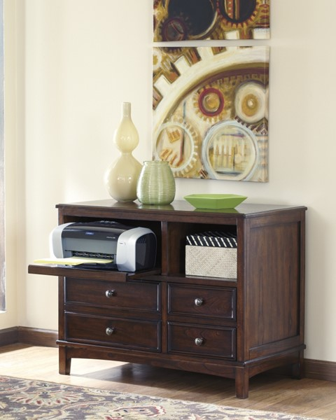 Devrik Contemporary Brown Wood Storage Cabinet H619-40
