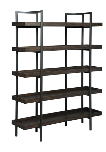 Starmore Contemporary Brown Solid Wood Metal Bookcase H633-70
