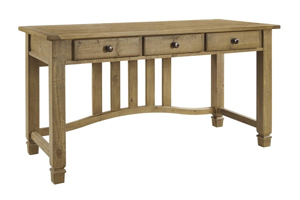 Trishley Casual Light Brown Solid Wood Home Office Desk H659-27