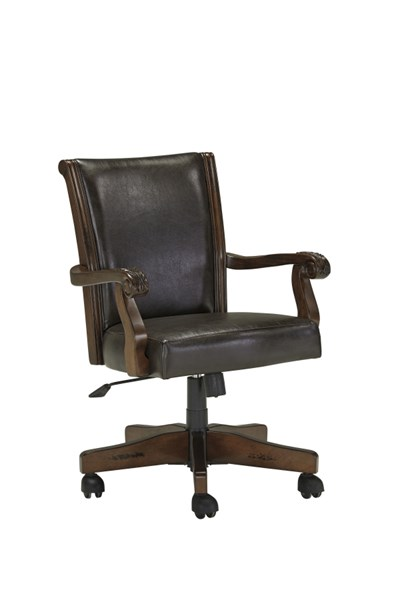 Alymere Vintage Brown Wood Home Office Swivel Desk Chair H669-01A
