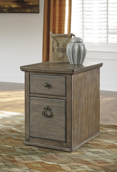 Tanshire Vintage Casual Grayish Brown Wood File Cabinet H688-12