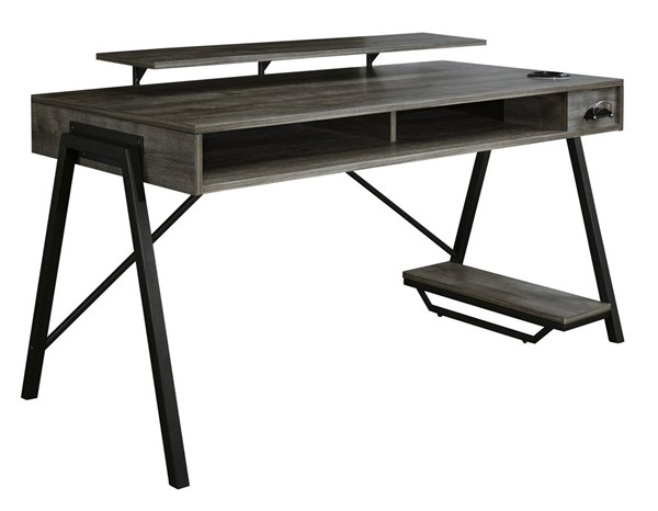 Ashley Furniture Barolli Gunmetal LED Gaming Desk H700-28