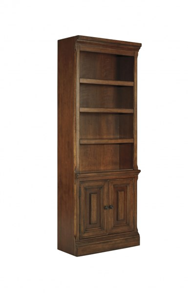 Gaylon Traditional Classics Burnished Brown Wood Large Door Bookcase H704-17