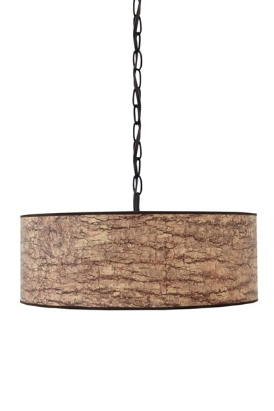 Dajuan Contemporary Light Brown Paper Pendant Light (1/CN) L000048