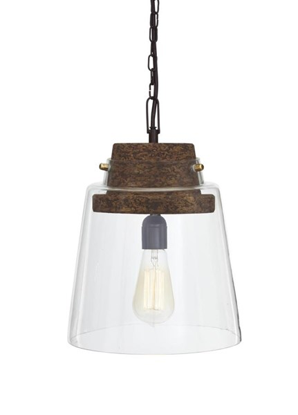 Hakeem Urbanology Clear Brown Glass Pendant Light (1/CN) L000218