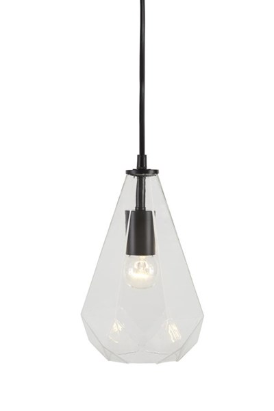 Ianna Contemporary Clear Glass Bell Shape Pendant Light (1/CN) L000248