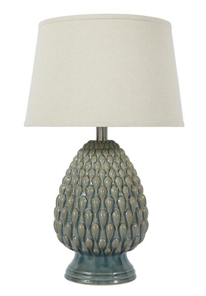 Saidee Vintage Casual Teal Ceramic Table Lamp (1/CN) L100264