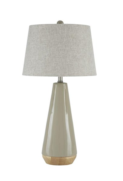 Sheray Contemporary Taupe Ceramic Table Lamp (1/CN) L100384