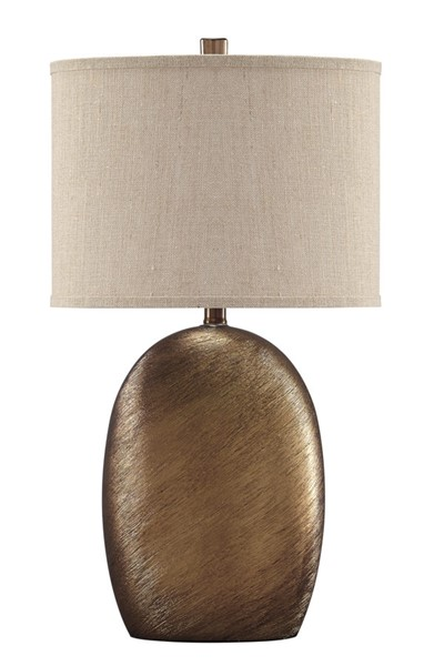Ashley Furniture Lewelyn Copper Ceramic Table Lamp L100614