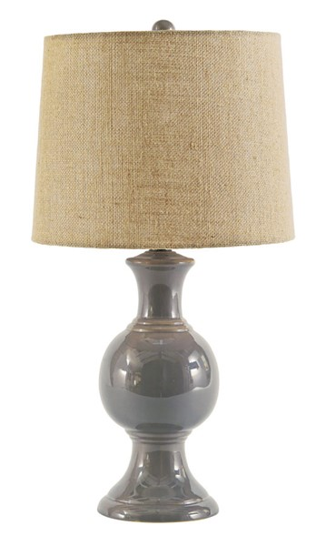 Ashley Furniture Magdalia Gray Ceramic Table Lamp L100644