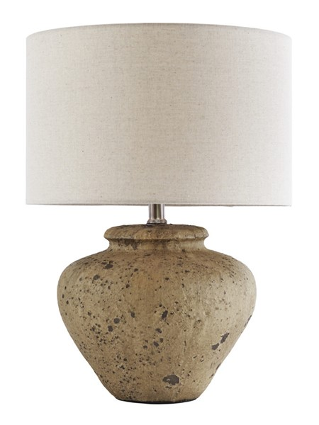 Ashley Furniture Mahfuz Beige Ceramic Table Lamp L100654