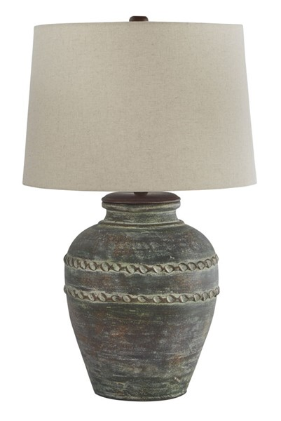 Ashley Furniture Mairead Green Terracotta Table Lamp L100694