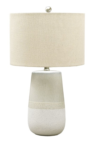 Ashley Furniture Shavon Beige Ceramic Table Lamp L100724