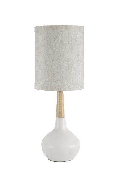 Stacia Contemporary White Ceramic Table Lamp (2/CN) L117924