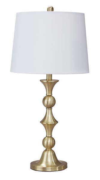 2 Ashley Furniture Genevieve Antique Brass Table Lamp L204154