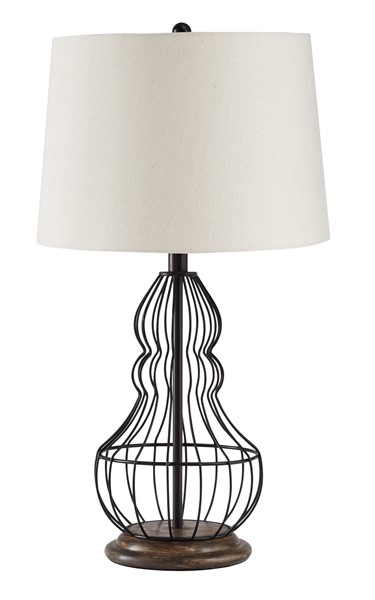 2 Ashley Furniture Maconaque Black Table Lamps L204184
