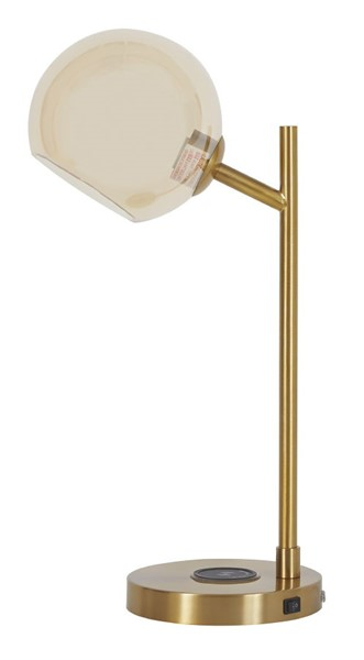 Ashley Furniture Abanson Amber Gold Desk Lamp L206022