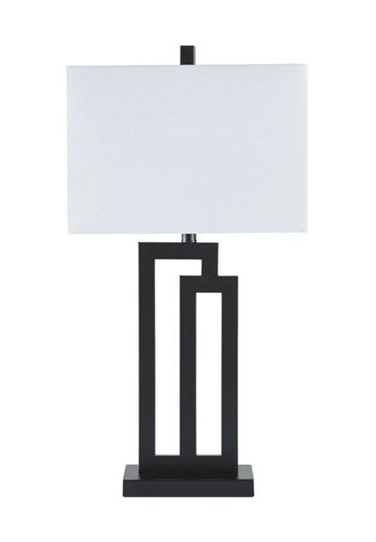 2 Darnell Contemporary Black Metal Table Lamps L207024