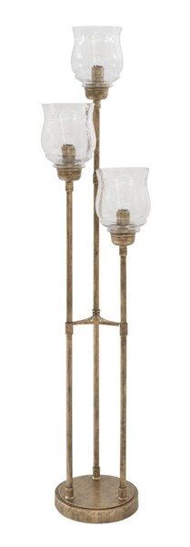 Ashley Furniture Emmie Traditional Antique Gold Finish Metal Floor Lamp L207191