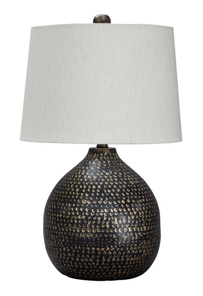Ashley Furniture Maire Black Gold Table Lamp L207294