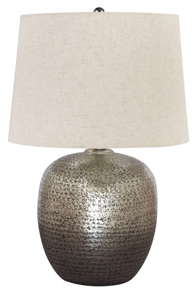 Ashley Furniture Magalie Antique Silver Table Lamp L207314