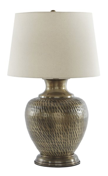 Ashley Furniture Eviana Antique Brass Metal Table Lamp L207384