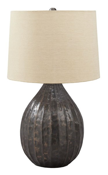 Ashley Furniture Marloes Copper Metal Table Lamp L207424