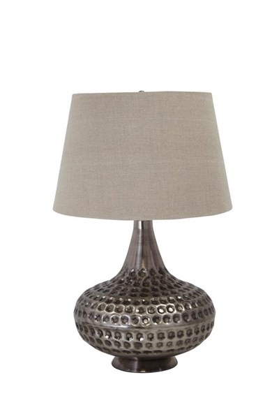 Sarely Contemporary Pewter Finish Metal Table Lamp (1/CN) L207844