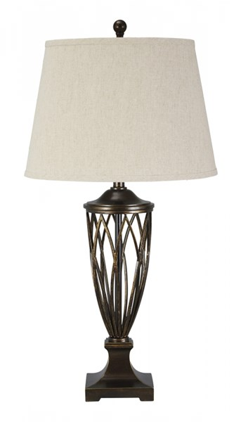 Makai Traditional Classics Brown Poly Table Lamp (1/CN) L208024